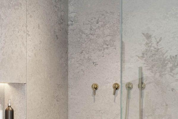 מקלחת עשויה שיש לבן אבן קיסר 4044